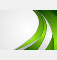Green and grey corporate wavy background vector image vector image