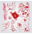 children drawings vector image vector image