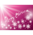 red background - merry christmas - card vector image