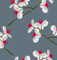 orchid flowers seamless wallpaper vector image vector image