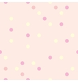 Pastel polka dots on pink background tile pattern vector image