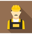 Oilman icon flat style vector image