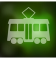 tram icon on blurred background vector image
