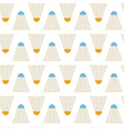 Flat Seamless Pattern Sport Badminton Shuttlecocks vector image
