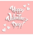 Happy Valentines Day Hand Lettering Greeting Card vector image