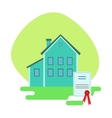 House Protected By The Insurance Contract vector image