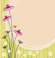 image flower landscape vector image