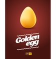 Realistic golden egg on dark background vector image