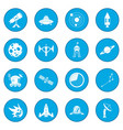 space icon blue vector image