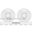 steam train wheels vector image