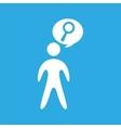 bubble speak retro with search icon design vector image