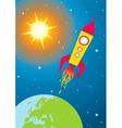 Spacecraft in space vector image vector image