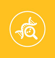 dna research icon in circle genetic study symbol vector image