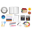 big set of school supples vector image