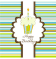 greeting card template vector image