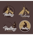 Vintage fishing club emblems and labels vector image vector image