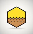 Brown ground Appication or web interface icon vector image vector image