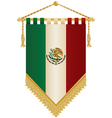mexico pennant vector image vector image