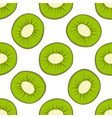 cartoon fresh kiwi fruits in flat style seamless vector image