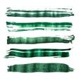 Green watercolor brush strokes vector image