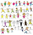 child like drawings vector image