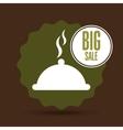 big sale food healthy restaurant vector image