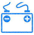 accumulator battery grunge icon vector image