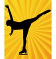 Figure skater3 vector image