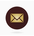 Fine Mail Flat Icon vector image