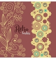 Retro borders Floral decoration in retro colors vector image