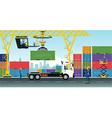 Container Cranes vector image