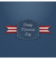 Happy Memorial Day Holiday Emblem vector image