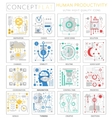 Infographics mini concept Human productivity icons vector image