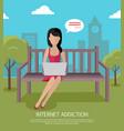 internet addiction banner vector image