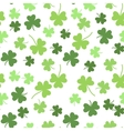 Seamless shamrock background for St vector image