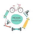 Means of transport background vector image