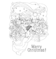merry christmas lettering Greeting Card design vector image