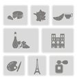 set with french icons vector image