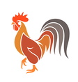 Abstract rooster Colorful bird on white vector image