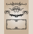 vintage decorations elements flourishes vector image vector image