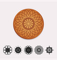 ornamental cork beer coaster vector image