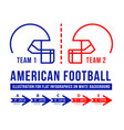 american football is the history of meetings vector image vector image