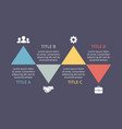 triangles timeline infographic cycle vector image