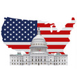 american white house vector image