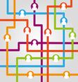 Social network internet chat community communicati vector image