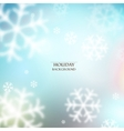White defocused snowflakes on glow background vector image vector image