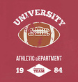 University football athletic dept vector image
