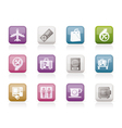 airport and transportation icons 1 vector image vector image