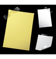 note paper on black vector image vector image