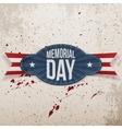 Memorial Day Holiday Badge vector image